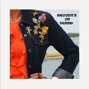 Jewelry - Go 4 that Fabulous Look With Brooches On Denim.